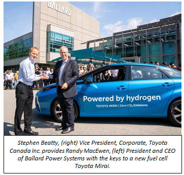Ballard Power Systems Announces Purchase of B C 's First